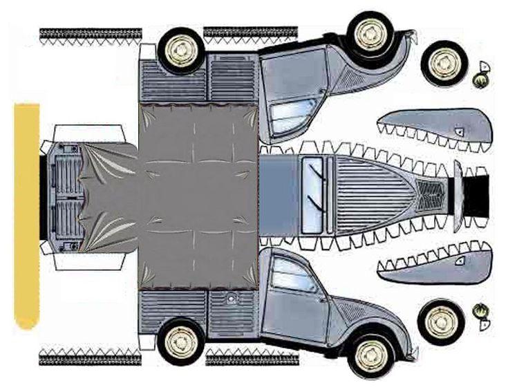 17 meilleures images propos de vehicules en carton sur pinterest volkswagen jouets et. Black Bedroom Furniture Sets. Home Design Ideas