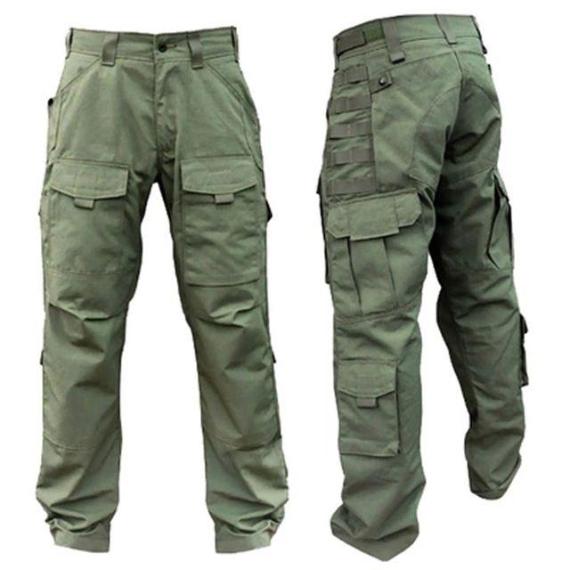 Molle Askeri Ordu Su Geçirmez Nefes Savaş Taktik Cepler Erkekler Naylon Pamuk Kitanica Tüm Sezon Için pantolon Kargo Pantolon
