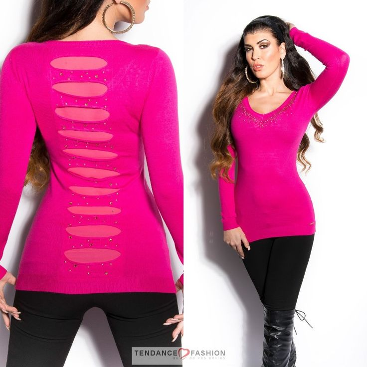 Pull nouvelle collection INESS couleur fushia