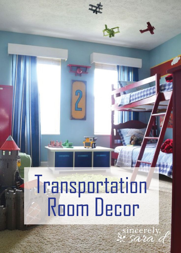 Check out these awesome travel themed decor ideas and give your boy's bedroom an update! He is sure to love his new space, filled with all types planes, trains, cars, and more!
