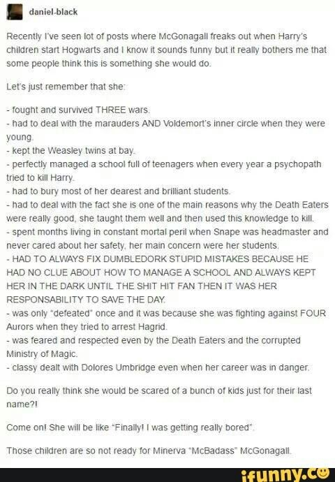 OH MY GOD DID SHE REALLY DEFEND HAGRID LIKE THAT?! HALF OF THESE MADE ME WANT TO CRY!