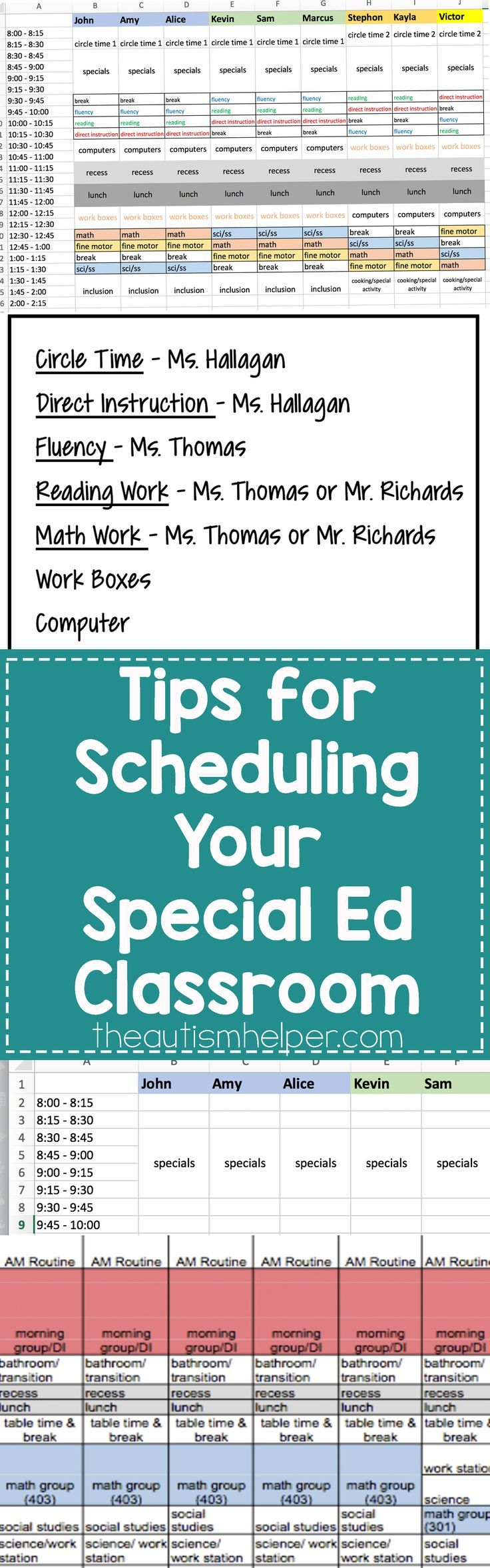 Helpful Tips & Steps for Scheduling Your Special Education Classroom Today on the Blog! From http://theautismhelper.com