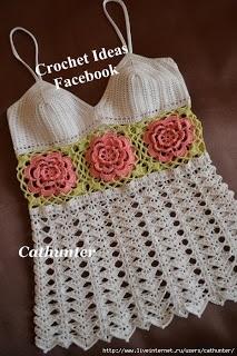 beside crochet: تونك كروشية للصيف مع البترونات.Crocheted tunic