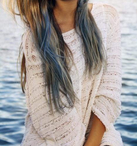 Mermaid: Dips Dyes Hair, Bluehair, Ombre Hair, Blue Dips Dyes, Blue Hair, Blue Tips, Hair Trends, Dips Dyed Hair, Feelings Blue