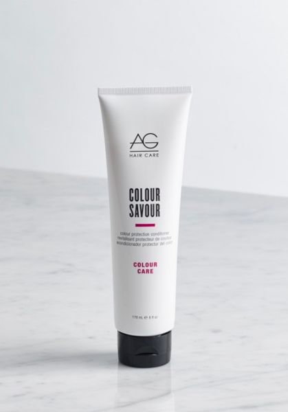 one of the few salon-worthy hair products we've found to be acne-safe!  (for more moisture, you may want to check out the colour savour conditioner instead).  color yourself happy with this protein- and moisture-rich Savour conditioner by ag hair cosmetics made especially for color-treated hair. rich, creamy and dreamy, this conditioner works hard to help prolong your hair color. #acnesafe #happyhairclearskin