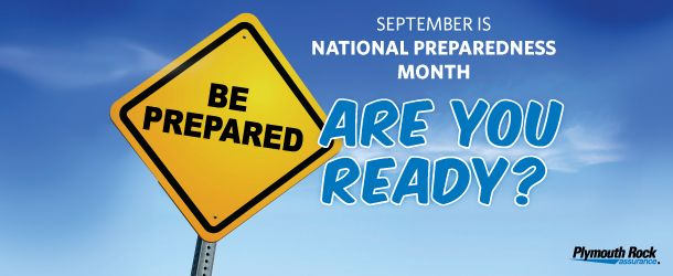 September is National Preparedness Month. Plymouth Rock has resources on how to prepare for disasters in NJ, like handling hurricanes and power outages.