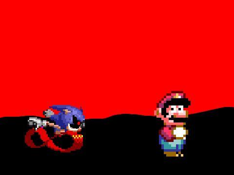 Mario VS Sonic.EXE (Super Mario World Hack)