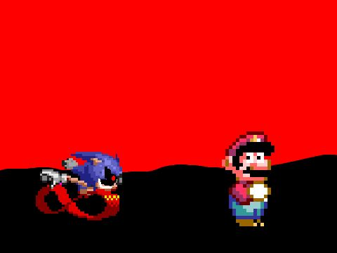 Mario VS Sonic.EXE (Super Mario World Hack)