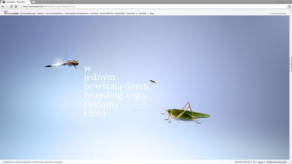 Creamteam Home Site by Creamteam , via Behance