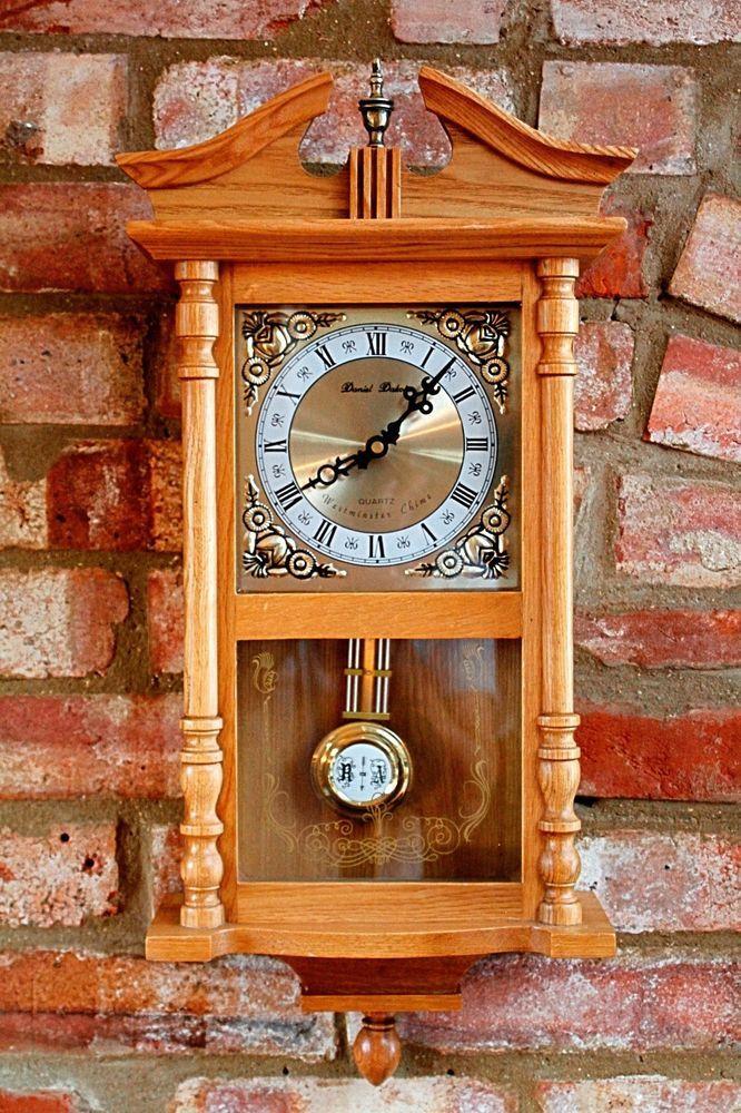 Vintage Wall Quartz Clock 'Daniel Dakota', Westminster