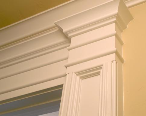 Molding around doorways