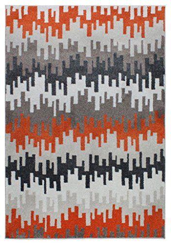 Teppich Wohnzimmer Carpet modernes Design VOQUE WELLEN RUG 100% Polypropylene 80x150 cm Rechteckig Orange   Teppiche günstig online kaufen https://www.amazon.de/dp/B017RBD10K