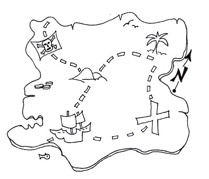 Real Treasure Hunts Cryptic Treasures Map Coloring Pages