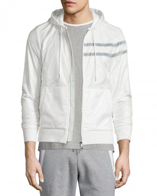 Moncler+Nylon+Zip+Up+Hoodie+White+|+Top,+Sweatshirt+and+Clothing