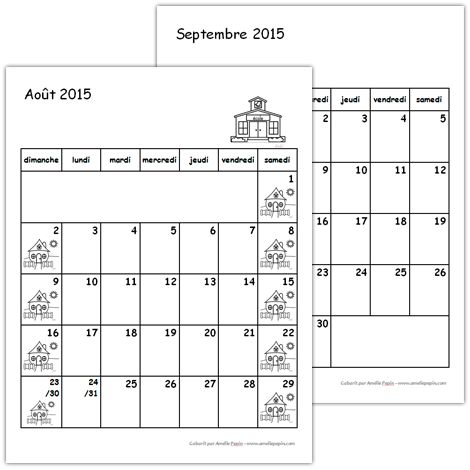 Calendriers 2015-2016 (1er cycle)