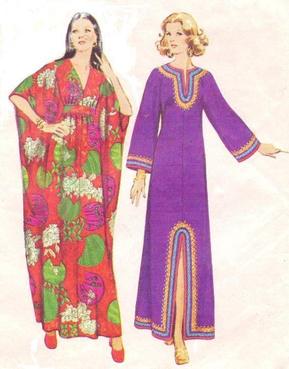 1970s Womens Boho or Grecian Caftan Simplicity by ...