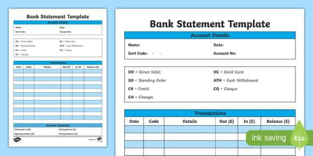 Bank statement template cfe everyday maths real life maths Twinkl #SampleResume #BlankBankStatementTemplate