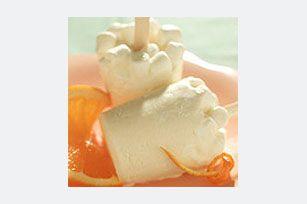 Sucettes glacées orange et crème