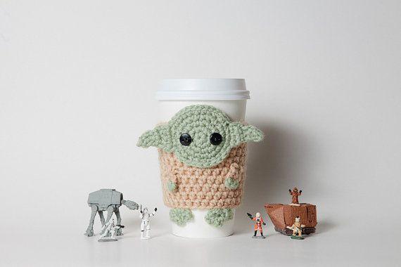 Yoda coffee cup cozy