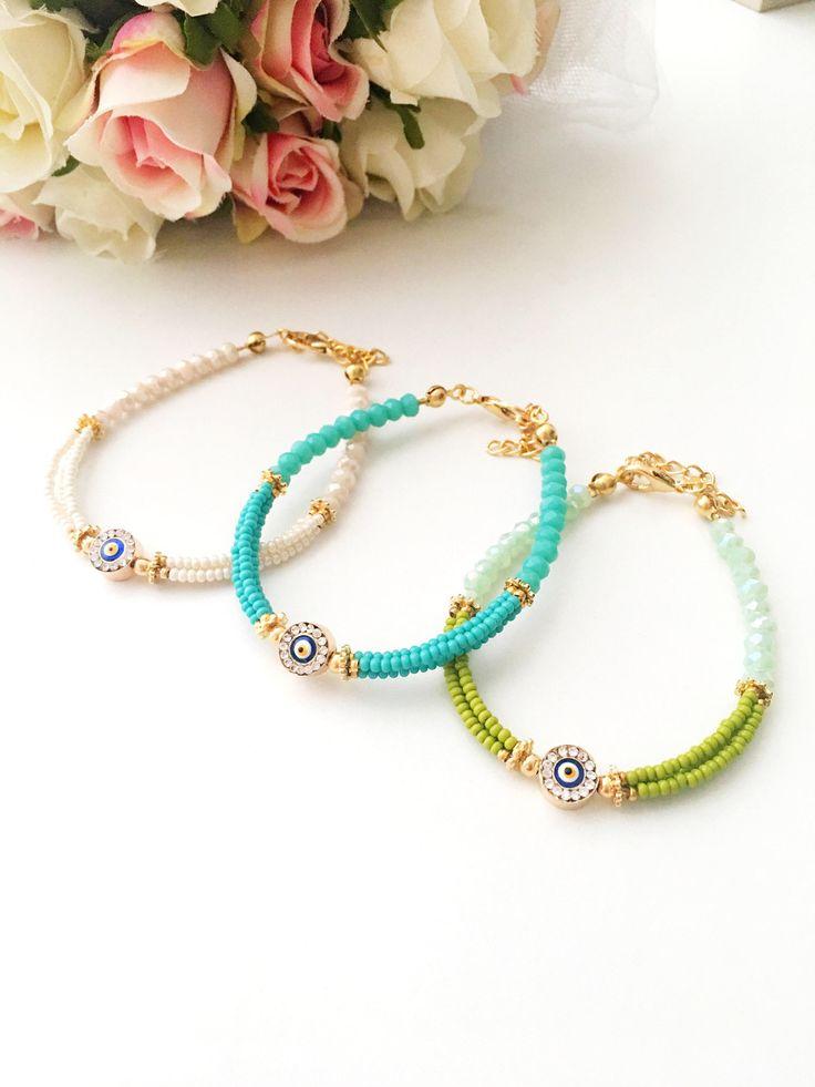 A personal favourite from my Etsy shop https://www.etsy.com/listing/564967991/evil-eye-bracelet-miyuki-bracelet-evil Evil eye bracelet, miyuki bracelet, evil eye beads, seed beads bracelet, turquoise beads, evil eye charm, evil eye jewelry Evil eye bracelet, blue evil eye summer jewelry, turquoise beaded bracelet, miyuki beads #evileye #miyuki #evileyebracelet #evileyes #miyukibeads #seedbeads #bijoux #bracelet #giftforher #bridesmaidgift #evileyecharm #evileyebeads #zirconia