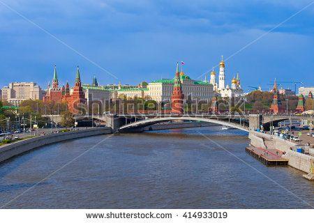 Moscow Kremlin landscape, spring time