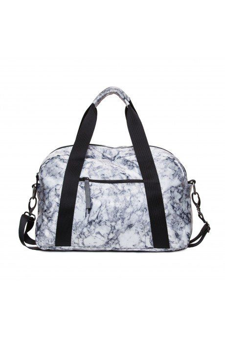 Pin for Later: Treat Yourself and Your Body With These Fitness Valentine's Gifts Bandier Marble Gym Bag