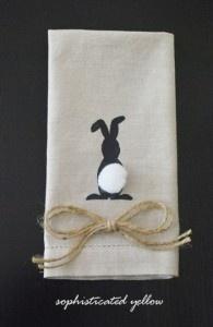 Bunny Napkin with Snaps