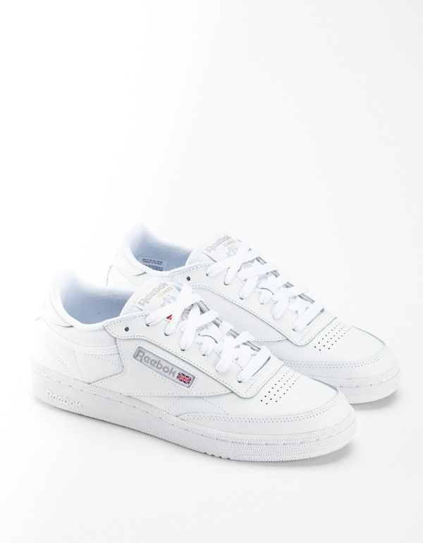 2b163b6b711 Reebok Club C 85 Sneakers - White Light Grey on in 2019
