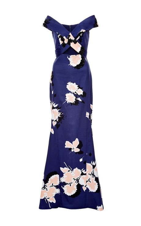 Dumas Embellished Long Dress by Johanna Ortiz for Preorder on Moda Operandi
