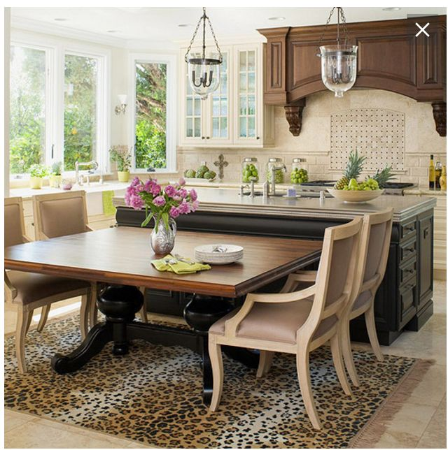 13 best Kitchen Islands with attached tables images on ...