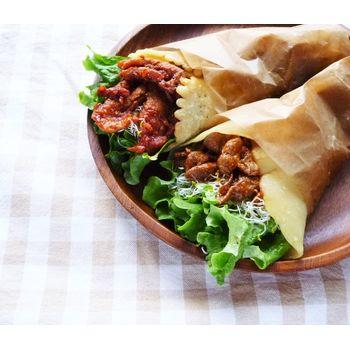 クミタス レシピ お好み焼き粉で簡単トルティーヤ(小麦、大豆不使用)