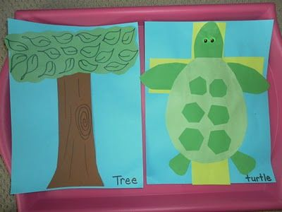 T for tree and turtle