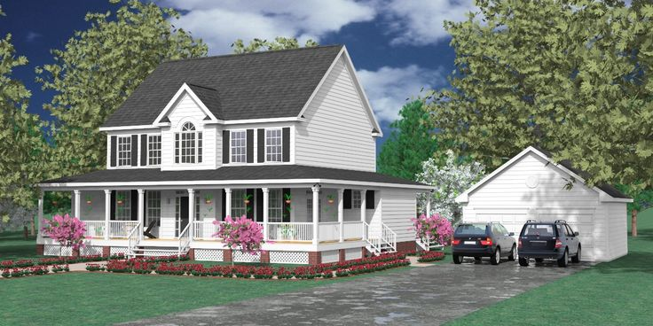 House plan 2581 a the applewood a two story country plan for House plans with downstairs master bedroom
