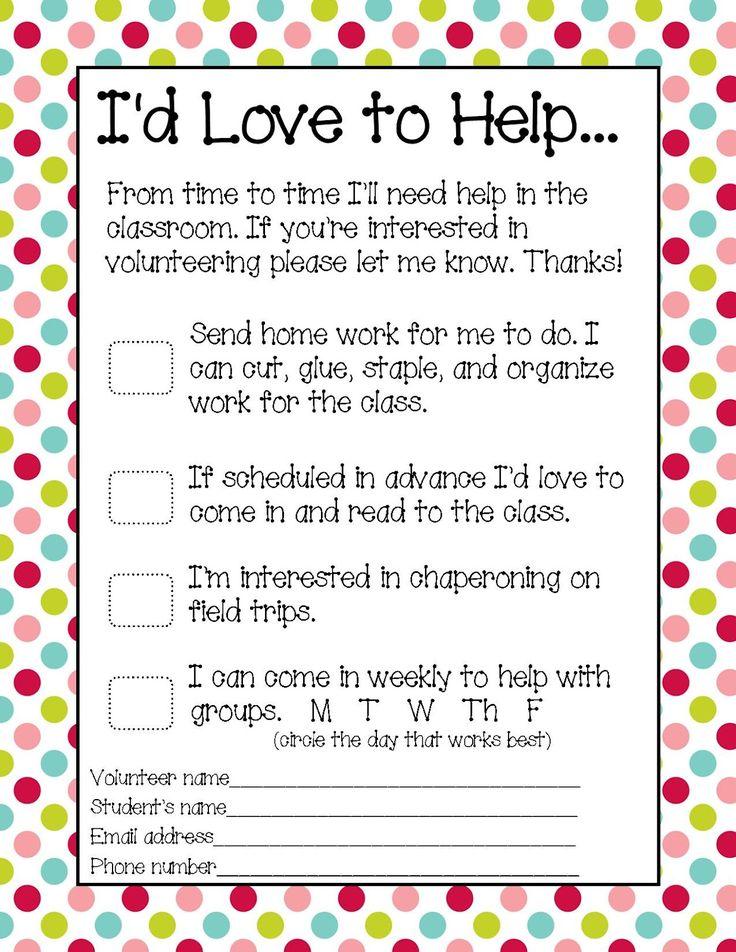 Best 25+ Parent volunteer form ideas on Pinterest Parent - parent survey template