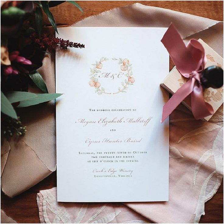 custom wedding invitations nashville%0A Day of Wedding Papers  Custom watercolor floral wreath  u     calligraphy  printed programs  Custom made