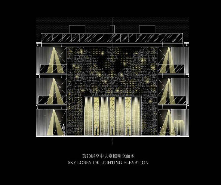 Landscape Lighting Planner: Sky Lobby Lighting Elevation For The Four Seasons Hotel