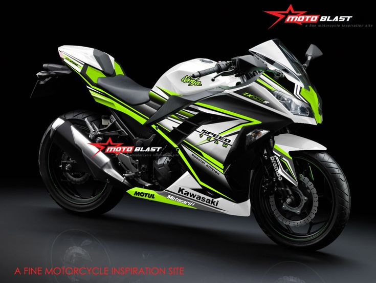 modifikasi striping kawasaki ninja 250r fi white super speed team motoblast