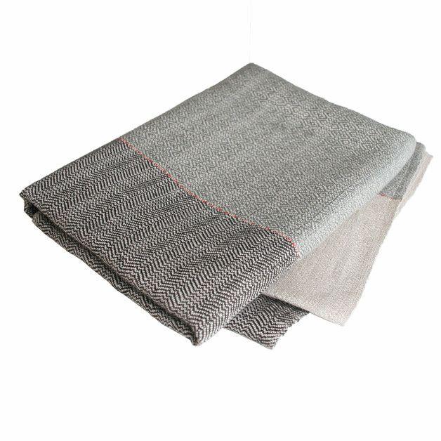 Handtücher - Saunatuch XXL Leinen Saunakilt handgewebt - ein Designerstück von tuchmacherin bei DaWanda