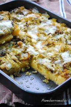 Pasticcio di polenta con verza stufata e fontina