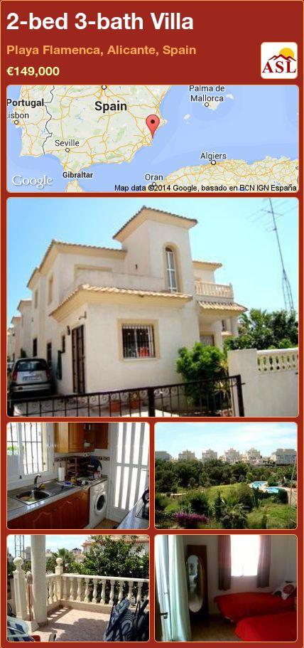 2-bed 3-bath Villa in Playa Flamenca, Alicante, Spain ►€149,000 #PropertyForSaleInSpain