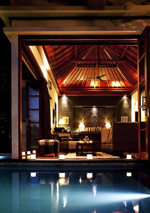 Inside-outside living at the Umah Dewi villa