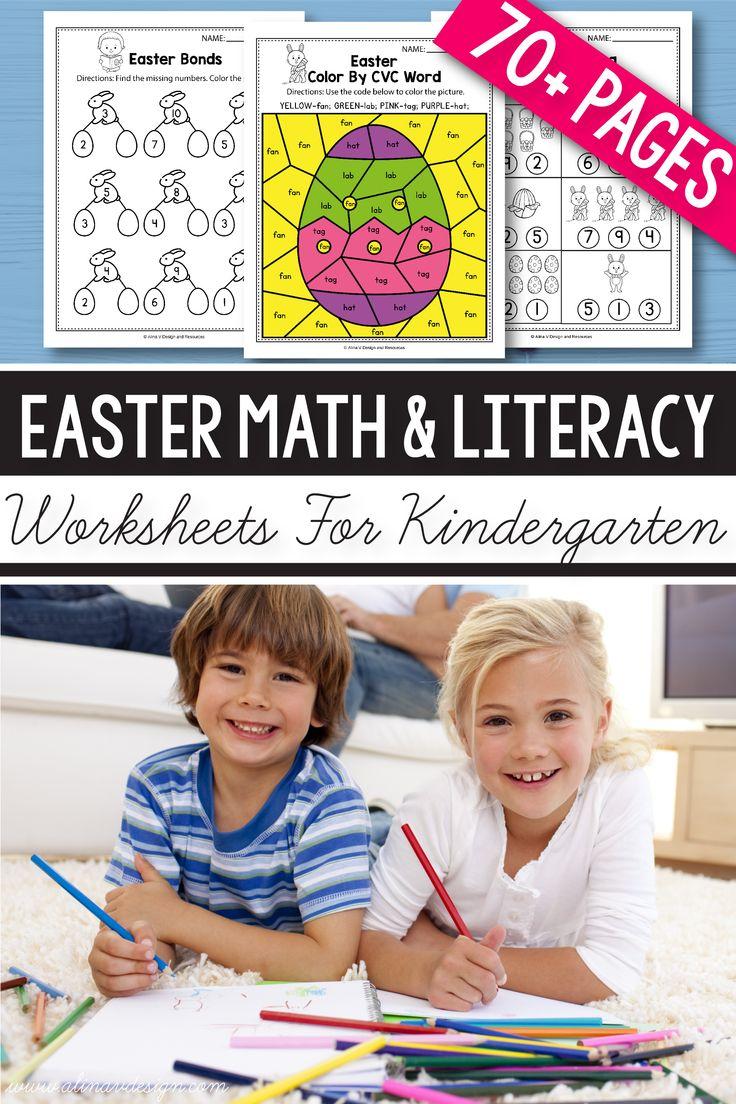 Easter math for kindergarten