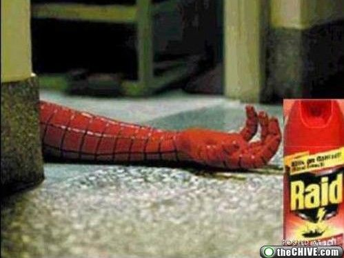 aw. poor spiderman