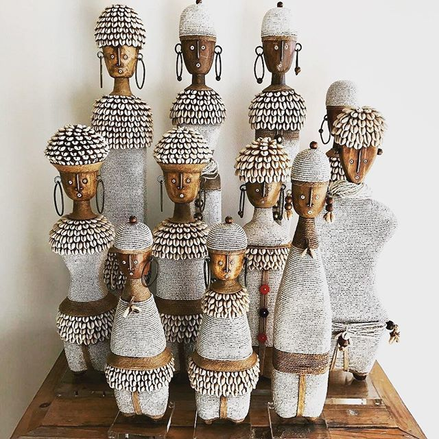 Wonderful African accessories, traditionally handcrafted goods @akanihome stumbled on these beauties made in Cameroon, multipurpose and culturally symbolic Namji dolls