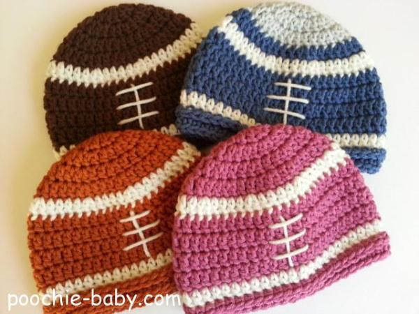 This crochet pattern will show you how to make a simple baby hat/beanie in a football design, in two different sizes. Even though the design is simple, the hat can be embellished or customized to meet your own needs. The possibilities are endless.