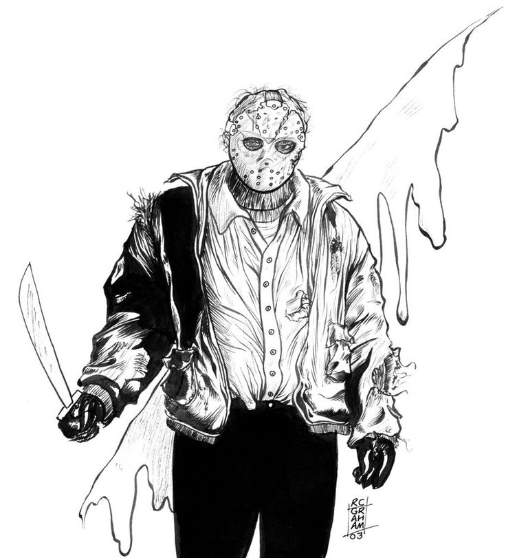 Jason Voorhees Coloring Pages Pesquisa Google Jason Jason Voorhees Coloring Pages