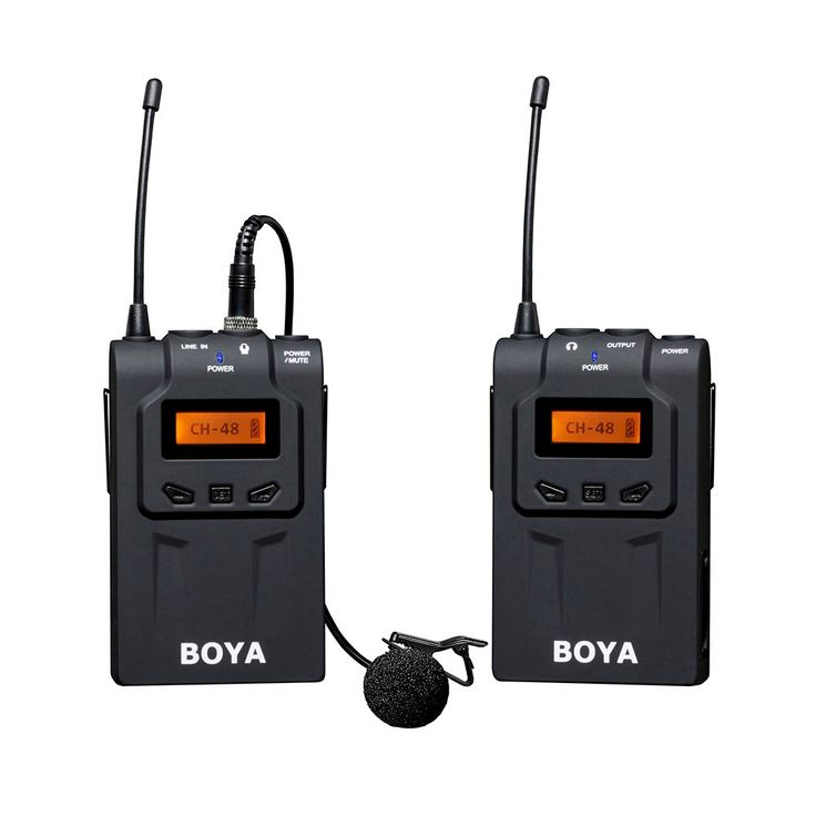 BOYA BY-WM6 Ultra High Frequency UHF Wireless Lavalier Microphone System for Canon Nikon Sony DSLR