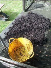 komposzt szétterítés