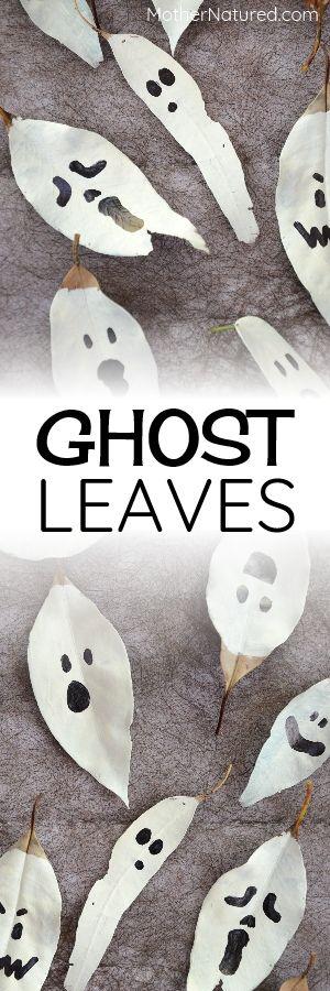 Leaf Ghosts | Halloween crafts | Halloween Nature Crafts