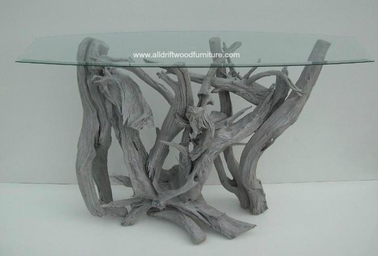 Driftwood Table Furniture and Driftwood Art featuring tropical resort design and tropical foyer table.